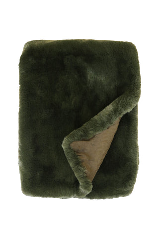 Pele Seaweed Faux Fur Throw 125x150cm