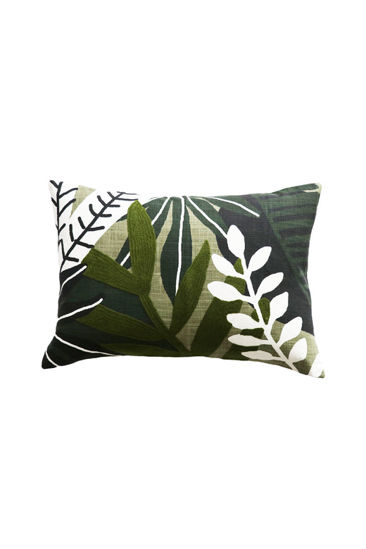 Matisse Cotton Floral Green Cushion with Polyester Inner 35x50cm