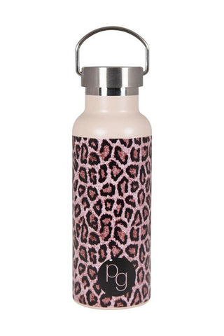 Stainless Steel Kalyan Brown Leopard Drink Bottle