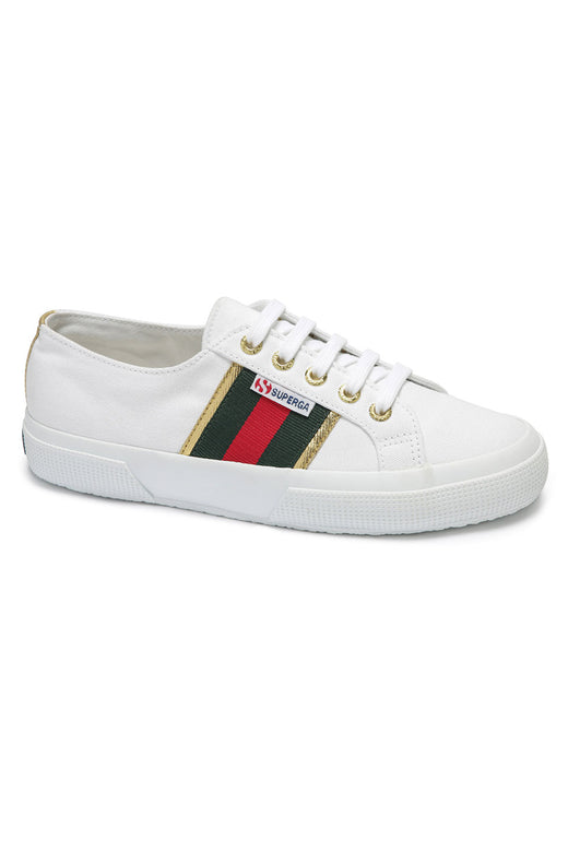 2750 Cotu Flagside White Gold Trim Canvas Sneaker