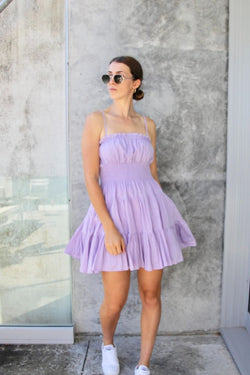 Stella Lilac Strappy Mini Dress