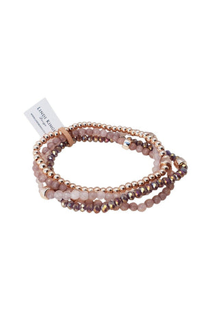 Dusky Rose Bracelet Set