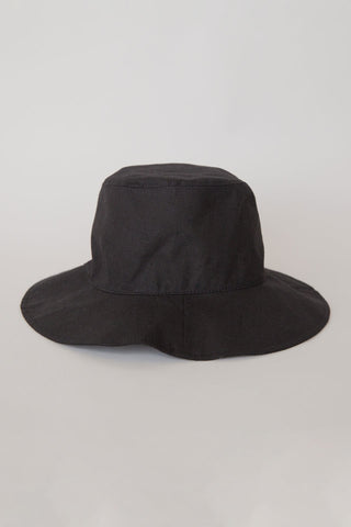 Linen Bucket Hat Black
