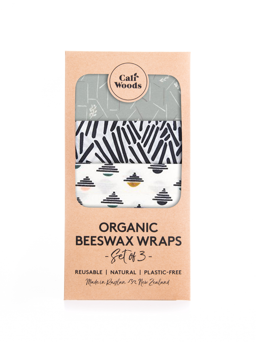 Organic Beeswax Wraps Set of 3