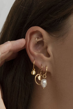 Ridge Halo SS Earrings