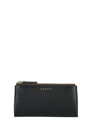 Sam Black Leather Wallet