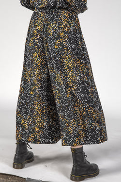 The Coco Black Mini Blotch Cropped Pants
