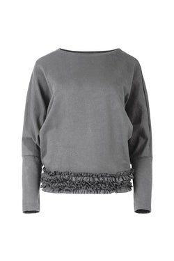 Hem And Now Frill Grey Jumper