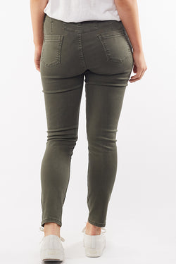 City Mid Rise Skinny Khaki Denim Jean