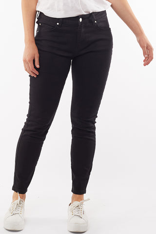 City Mid Rise Skinny Black Denim Jean