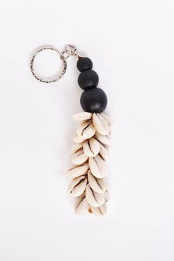 Shell and Bead Keyring