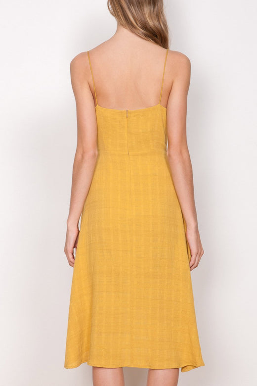 Haze Wrap Mustard Dress