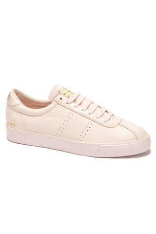 2843 Clubs Pink Tumbled Leather Sneaker
