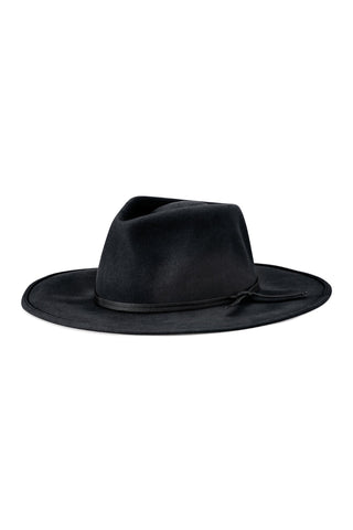 Joanna Packable Black Felt Hat