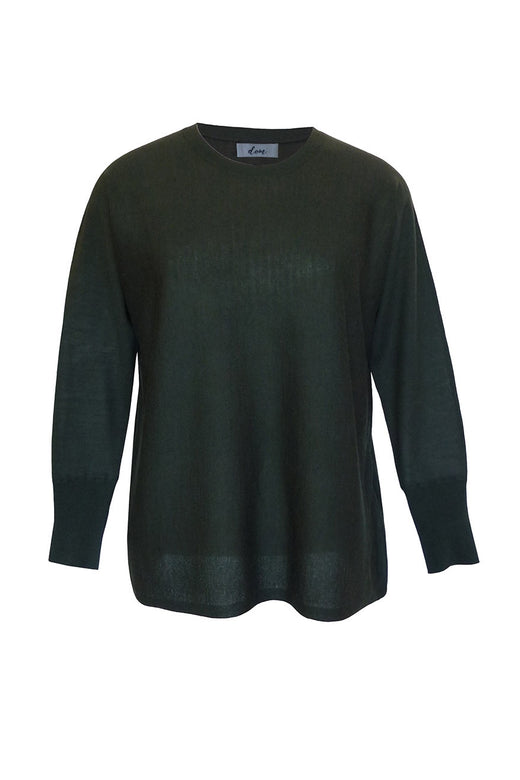 Billi Wool Blend Spruce Green Crew Neck Sweater