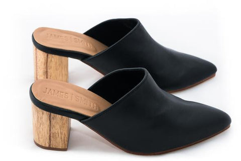 Le Point Slip On Heel Black