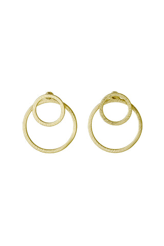 Zooey Double Sided Open Circle Earring