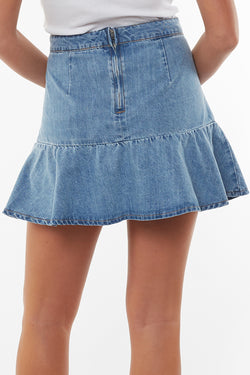 Havana Flippy Blue Denim Skirt