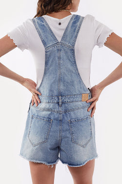 Ella Rigid Blue Denim Overalls