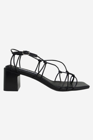 Magnolia Multi Strappy Black Heel