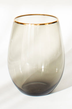 Charcoal Stemless Wine Glass