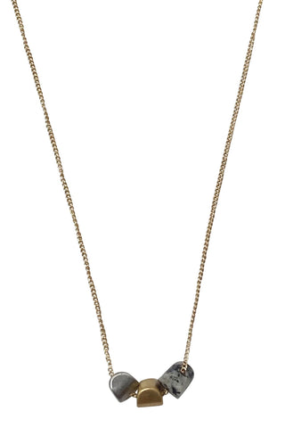 Triple Charm Gold Necklace