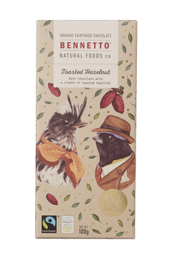Fairtrade Chocolate Toasted Hazelnut 100gm