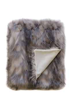 Heirloom Faux Fur Mountain Hare Throw 150x180cm