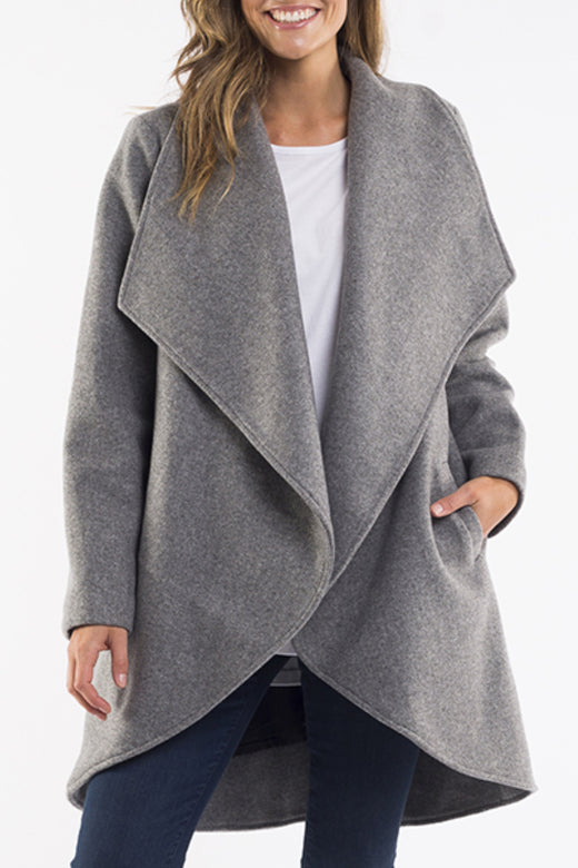 Agnus Waterfall Grey Marle Coat
