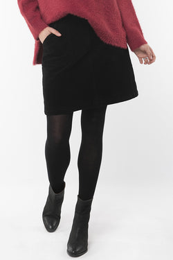 Ellie Black Cord Mini Skirt