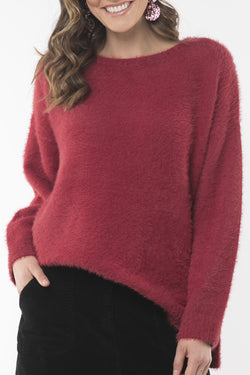 Cosy Berry Knit Crew