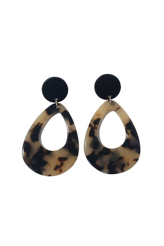 Tort Teardrop Earrings