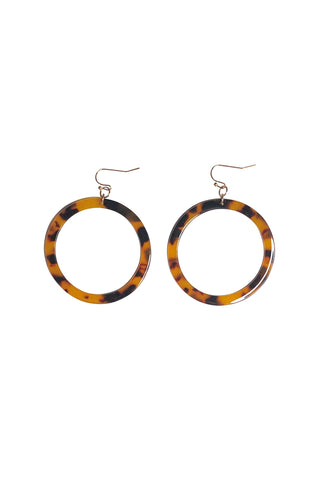Tort Circle Earrings