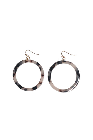 Tort Blush Circle Earrings