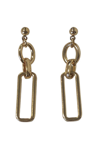 Gold Links Earrings