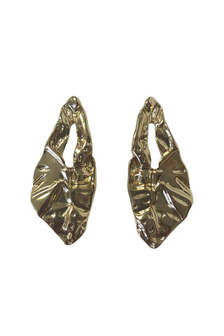Gold Crushed Earrings