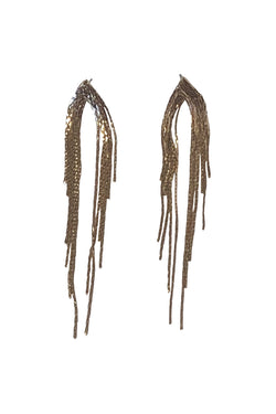 Waterfall Chain Gold Earrings
