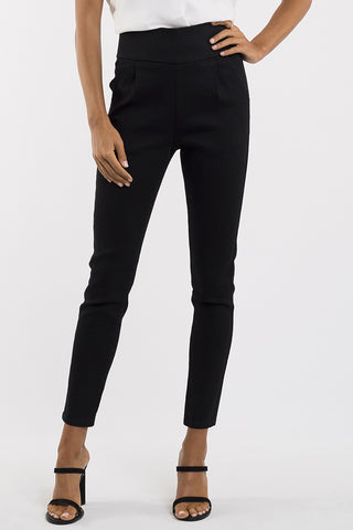 Ashley High Rise Stretch Tapered Black Pant