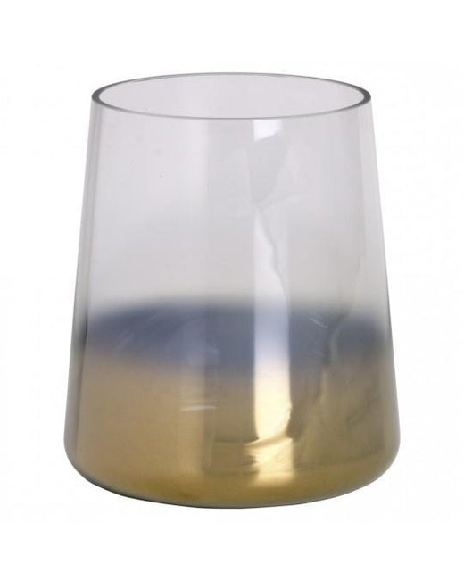 JSN (Candle Holder Graduated Brass) Glass 14x14x16cm S15