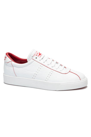 2869 Clubs S Comfleau Painted E White with Red Flame Trim Sneaker