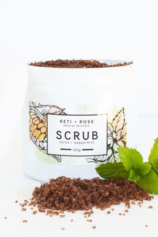 Cocoa and Peppermint Body Scrub