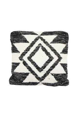 Faas Wool Cream Black Aztec Square Cushion 45x45cm