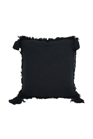 Moni Stonewash Cotton Black Cushion 50x50cm