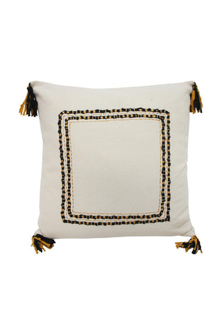 Aruba Mustard + Black Cushion 55x55cm
