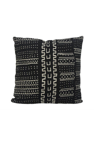 Atuki Black with White Design Square Cushion 50x50cm