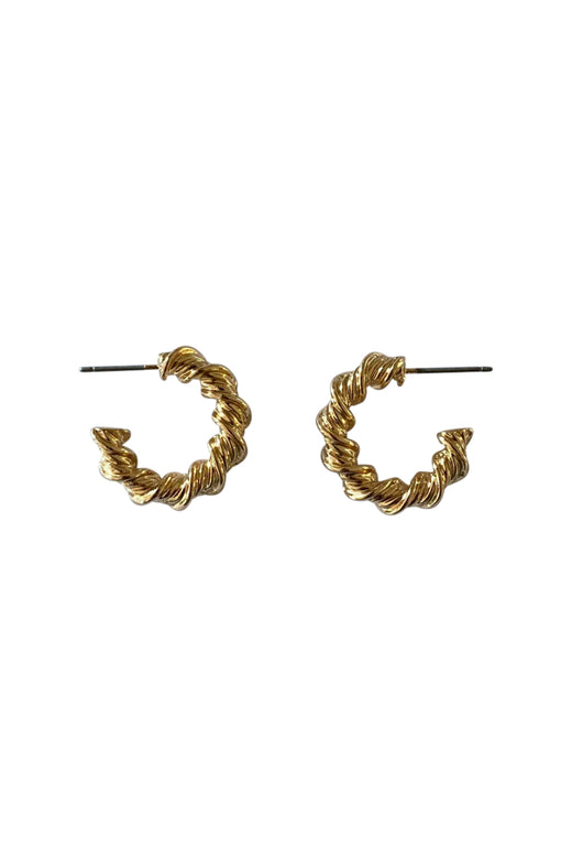 Small Twisted Hoop Earrings Gold
