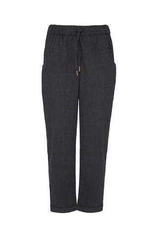 In Love Black Cropped Cuff Hem Tapered Pant