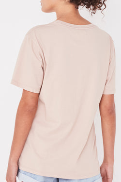 Logo Dusk Cotton Crew Tee