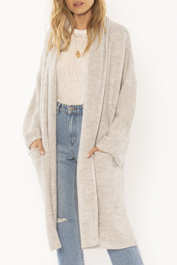 Seaside Hideaway Super Soft Heather Grey Knit Cardigan