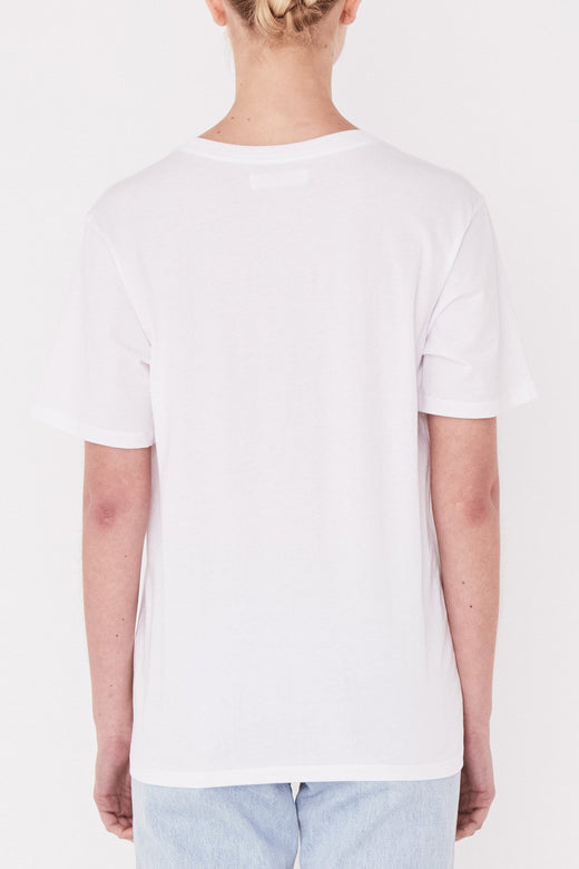 Agency White Logo Tee